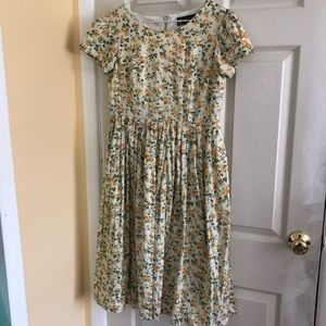 1950's Styled Vintage Flower Dress